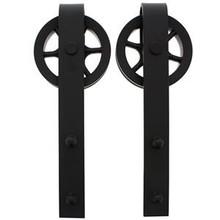 Intersteel 2 hangrollen spaakwiel  tbv schuifdeursysteem Wheel mat zwart