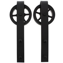 Intersteel 2 suspension rollers spoke wheel for sliding door system Wheel mat black