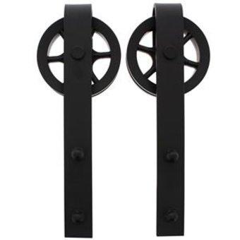 Intersteel 2 suspension rollers spoke wheel for sliding door system Wheel mat black