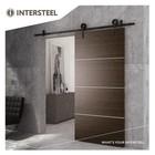 Modern Matt Black sliding door system by Intersteel