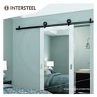 Sliding door system Modern Top Mat Black from Intersteel