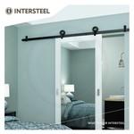 Modern Top Matt Black sliding door system by Intersteel