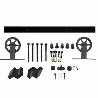 Intersteel Schiebetürsystem Wheel Top Mat Black von Intersteel