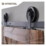 Intersteel Sliding door system Wheel Top Matt Black from Intersteel