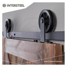 Intersteel Sliding door system Wheel Top Matt Black from Intersteel