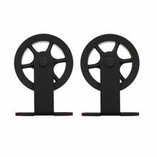 Intersteel 2 suspension rollers spoke wheel for sliding door system Wheel Top mat black