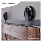 Schiebetürsystem Wheel Top Matt Black von Intersteel