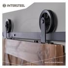 Sliding door system Wheel Top Matt Black by Intersteel