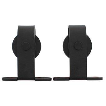 Intersteel 2 suspension rollers straight for sliding system Basic Top matt black