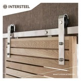 Intersteel Sliding door system Basic stainless steel from Intersteel