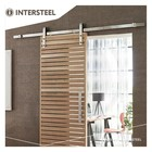 Sliding door system Basic stainless steel from Intersteel