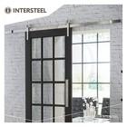 Modern stainless steel sliding door system from Intersteel