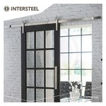 Modern stainless steel sliding door system from Intersteel