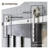 Intersteel 2 Aufhängungsrollen offenes Rad für Schiebetürsystem Moderner Edelstahl