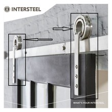 Intersteel 2 suspension rolls open wheel for sliding door system Modern stainless steel