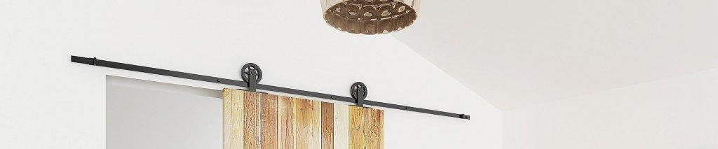 Hoe monteer ik een schuifdeursysteem op een houten wand?