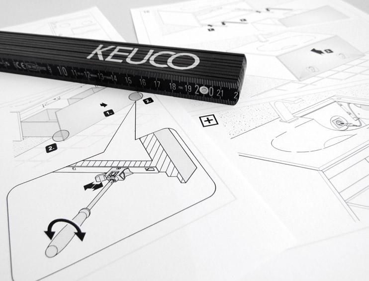 Keuco site montagehandleidingen downloaden
