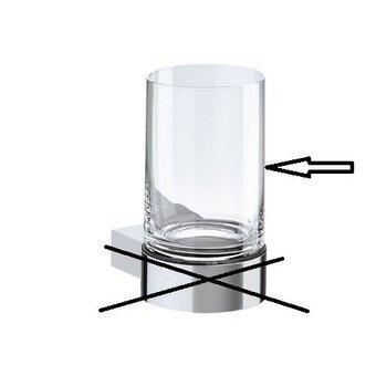 Keuco Crystal glass loose for glass holder 14950 Plan / Plan Black Keuco