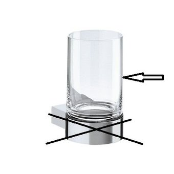 Keuco Kristallen glas los voor glashouder  14950 Plan / Plan Black Keuco