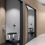 Stainless steel toilet from Delabie