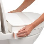 Etac Toilet raiser - Toilet chair - Toilet arm supports with glasses
