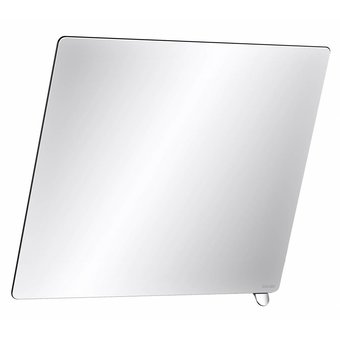 DELABIE Tilt mirror with short handle, brilliantly chromed from Delabie