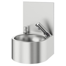 DELABIE SXS hand wash basin electronic with splash wall - DELABIE
