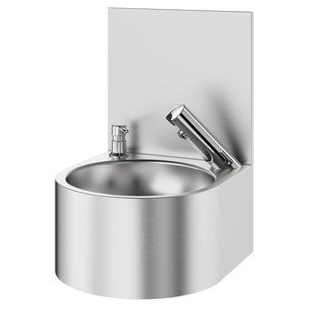 DELABIE SXS electronic hand washbasin with splashback - DELABIE
