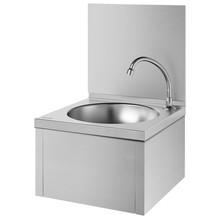 DELABIE SXS hand washbasin with mechanical splashback - DELABIE