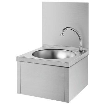 DELABIE SXS mechanical hand wash basin with splashback - DELABIE