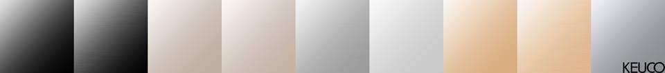 Keuco speciale oppervlakken Brons, Nikkel en Zwartxhroom