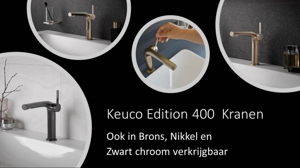 Keuco Edition 400 Kranen, ook in Brons, Nikkel en Zwart chroom bij ons verkrijgbaar.