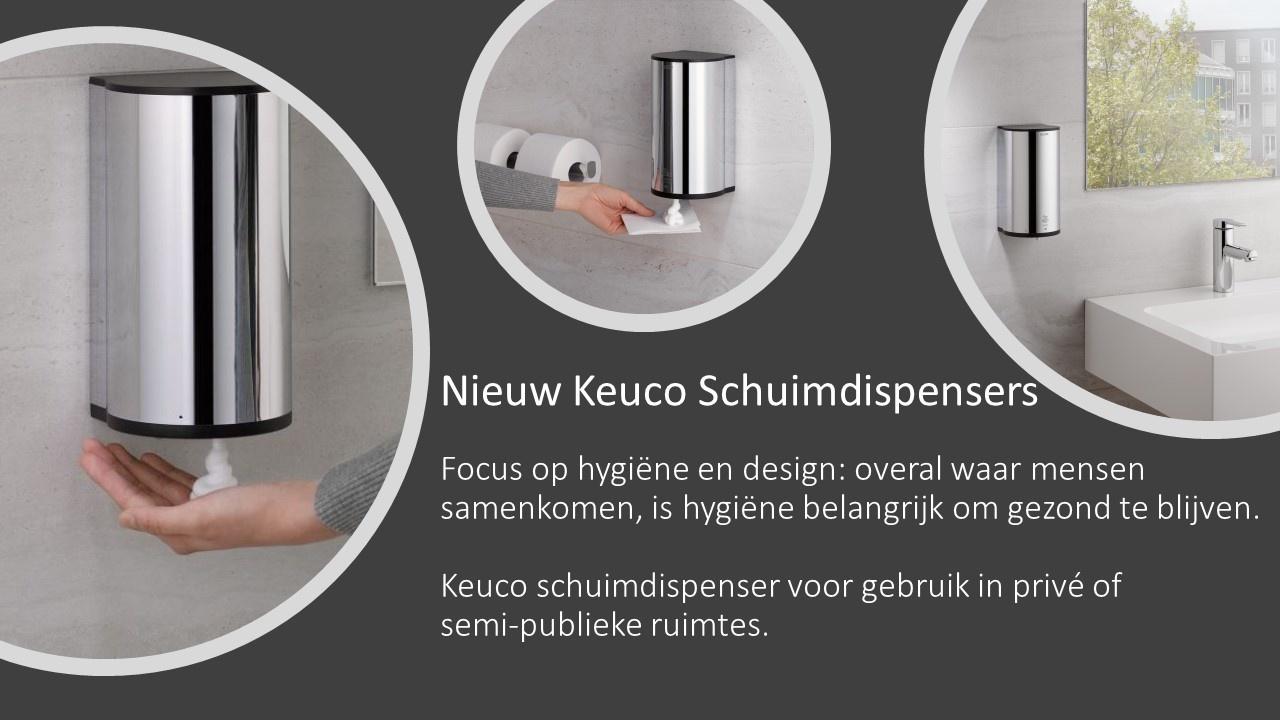 Nieuw Keuco Schuimdispenser - contactloze hygiëne dankzij de infraroodsensor.