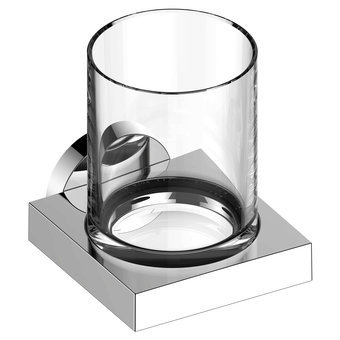 Keuco Glashouder met kristallen glas serie Edition 90 Keuco