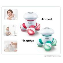 Beurer MG16 mini massage mix pakket (4x rood en 4x groen) van Beurer