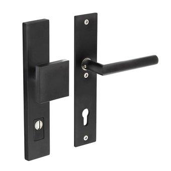 Intersteel Security fittings front door 92mm with core pull protection in matt black Intersteel