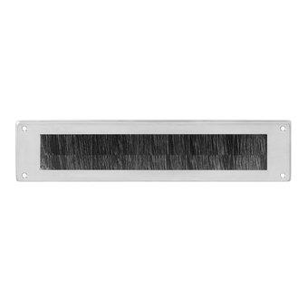 Intersteel Draft barrier rectangular brushed in stainless steel