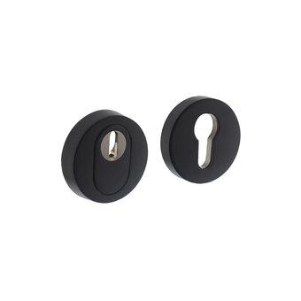 Intersteel Safety rosette round stainless steel matt black core pull protection Intersteel