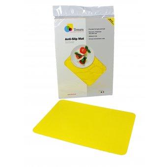 Tenura Antislip mat rechthoekig 35 x 25 cm  - Geel - Tenura