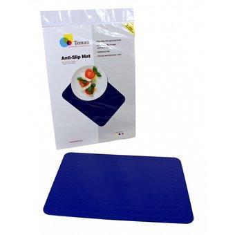 Tenura Rutschfest matt rechteckig 35 x 25 cm - Blau - Tenura