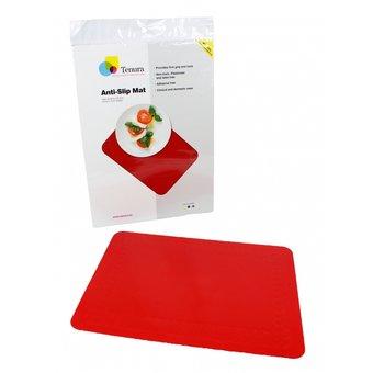 Tenura Antislip mat rechthoekig 45 x 38 cm  - Rood - Tenura