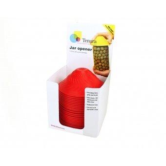Tenura Non-slip pot opener 1x Display of 25 pieces - Red - Tenura