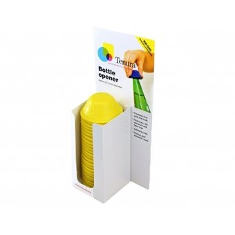 Tenura Non-slip bottle opener 1x Display of 25 pieces - Yellow - Tenura