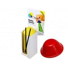 Tenura Non-slip bottle opener 1x Display of 25 pieces - Red - Tenura
