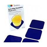 Tenura Non-slip coasters 9x9cm - 1 set of 4 pieces - Blue - Tenura