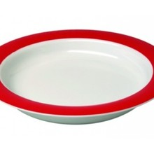Able2 Ornamin Plate large - Ø 26 cm - White / Red