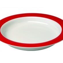 Able2 Ornamin Bord klein - Ø 20 cm - Wit/Rood