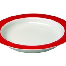 Able2 Ornamin Plate small - Ø 20 cm - White / Red