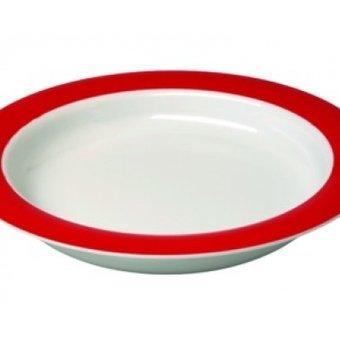 Able2 Ornamin Teller groß - Ø 20 cm - Weiß / Rot