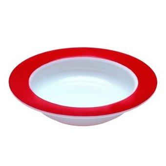 Able2 Ornamin Kom - Ø 15,5 cm - Wit/Rood